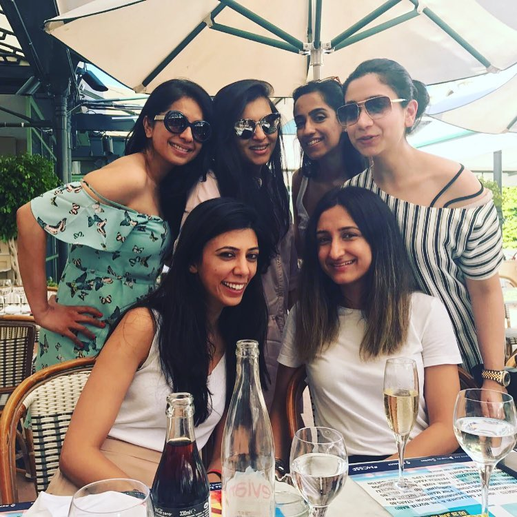Sakshi with best friends in bachelorette